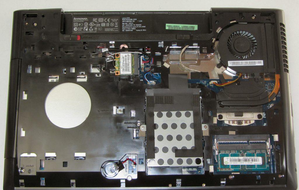 Tak prezentuje się Lenovo G510 po odkręceniu obudowy